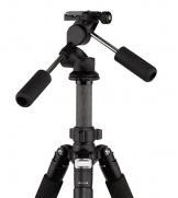 Rollei Rock Solid Dreiwegeneiger L - extrem leichter Aluminium Stativkopf, präzise Einstellung, ArcaSwiss kompatibel - schwarz - 1