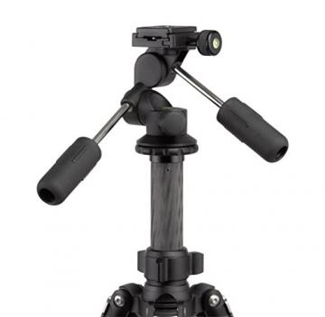 Rollei Rock Solid Dreiwegeneiger M - extrem leichter Aluminium Stativkopf mit 4 kg Traglast, präzise Einstellung, ArcaSwiss kompatibel - schwarz - 2