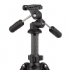 Rollei Rock Solid Dreiwegeneiger M - extrem leichter Aluminium Stativkopf mit 4 kg Traglast, präzise Einstellung, ArcaSwiss kompatibel - schwarz - 1