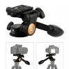 TARION® Q08 Drei-Wege-Neiger Stativ-Kopf mit Kipphebel Panorama + Schnellwechselplatte für DSLR Kamera Dreibeinstativ Einbeinstativ - 1
