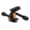 TARION® Q80 Drei-Wege-Neiger Stativ-Kopf Zwei Kipphebel Panorama + Schnellwechselplatte für DSLR Kamera Dreibeinstativ Einbeinstativ - 1